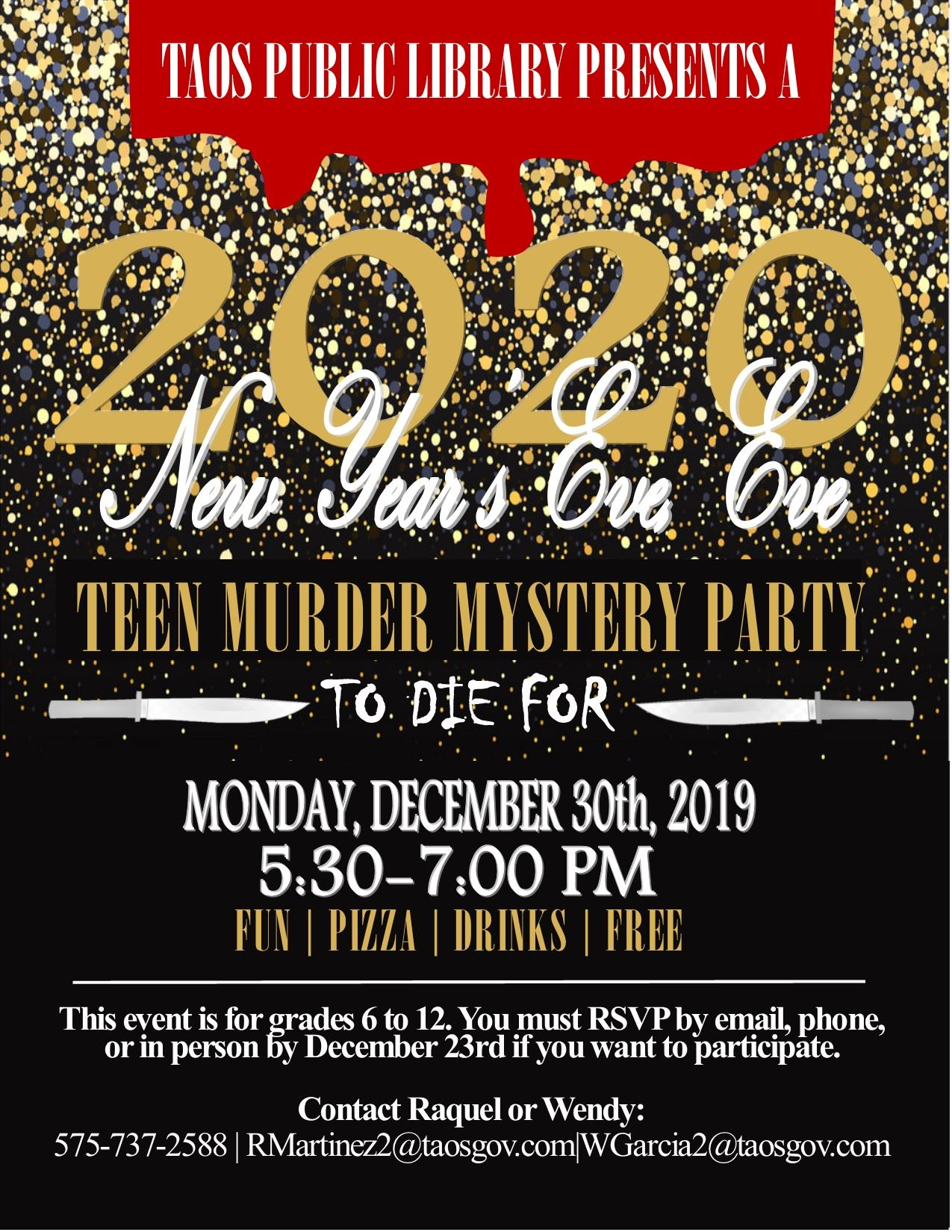 NYE TEEN Murder Mystery Party