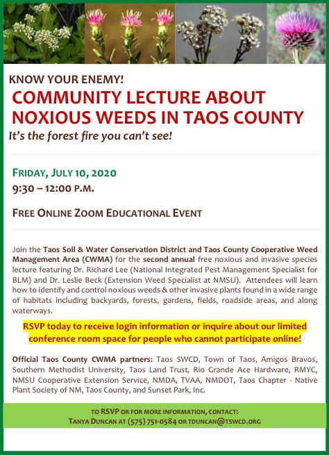 Community Lecture About Noxious Weeds in Taos County-
