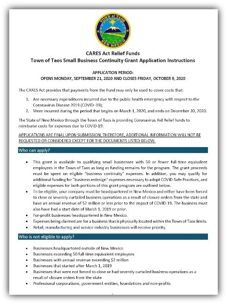 CARES-Small Business Application TOT 09152020_Page_1